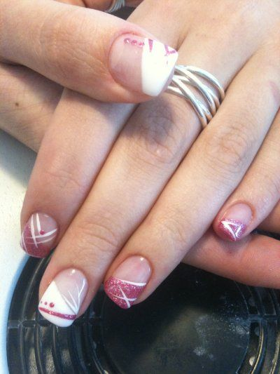 Ongle en gel 2017 rose - Deco french manucure ...