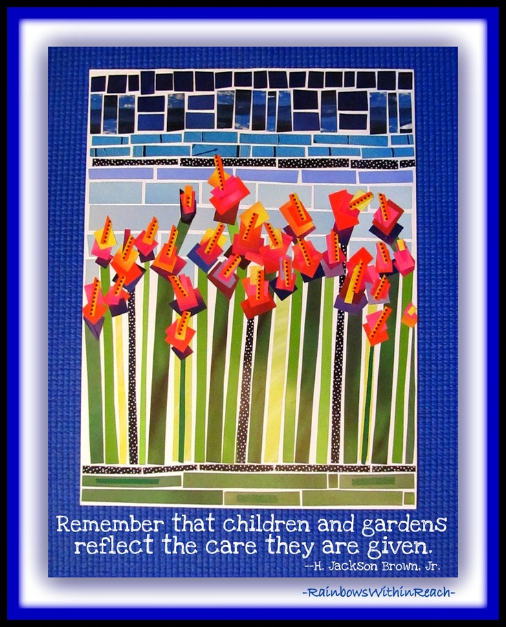 """""""Remember that children and gardens reflect the care they are given.""""  Blog article on childhood cancer and using our gifts for this day. Do you need some inspiration?"""