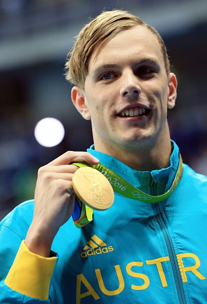 #RIO2016 Kyle Chalmers of Australia wins Gold in the Men's 100m Freestyle Final on Day 5 of the Rio 2016 Olympic Games at the Olympic Aquatics Stadium on...