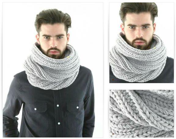 photo tricot modele tricot gratuit snood homme 5