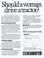 Kubota Mid-Size Lawn Tractor 1979 Ad Picture