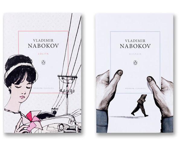 Book covers for Penguin's Vladimir Nabokov series.: Books Covers, Illustrations Posters Art, Nabokov Covers, Covers Books, Graphics Inspiration, Books Design, Graphics Design, 3D Books, Beautiful Books