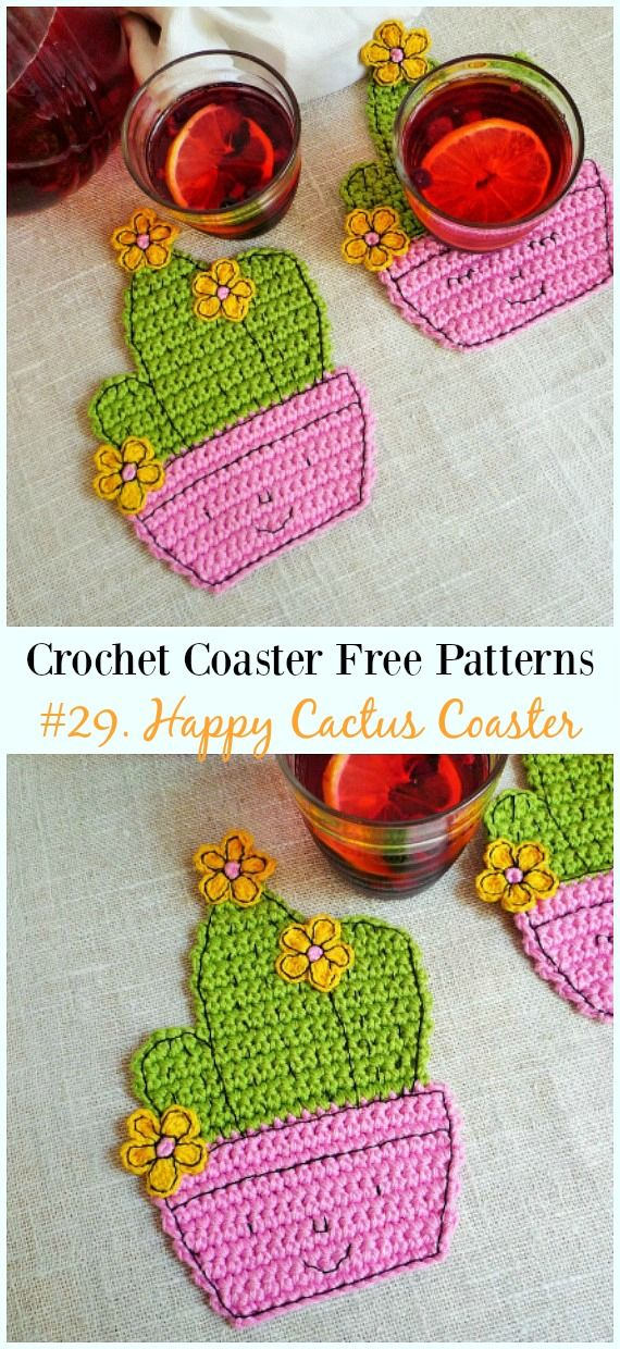 Easy Crochet Coaster Free Patterns Any Beginners Can Try Base De