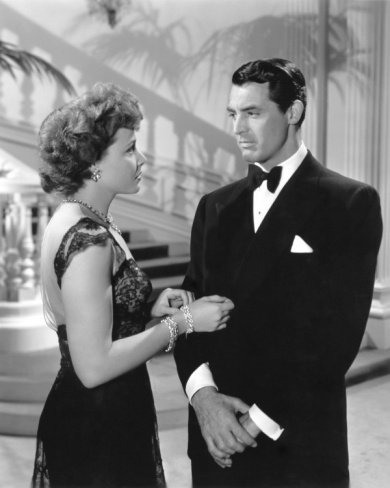 "Cary Grant and Laraine Day from the romantic ""Mr. Lucky"" (1943)"