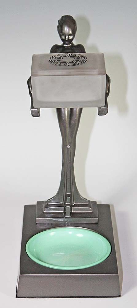 ORIGINAL FRANKART NUDE ART DECO SMOKER'S SET T-340