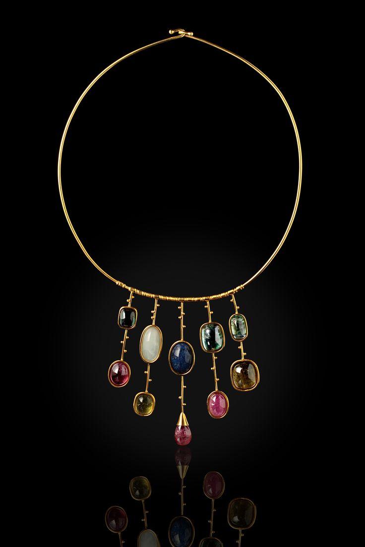 tourmaline stones & gold