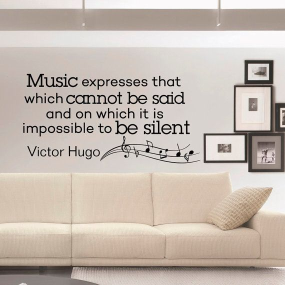 Music Wall Decal Quote Vinyl Lettering Music By FabWallDecals · Living Room  ...