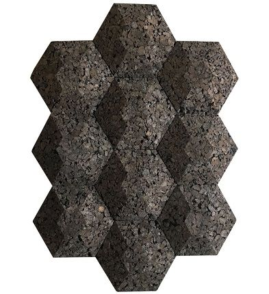 insulation acoustical cork wall tiles 3d hexagon jelinek cork group
