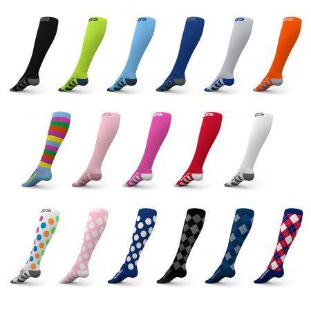 Go2 Compression Socks for Women and Men Athletic Running Socks for Nurses Medical Graduated Nursing Compression Socks for Travel Running Sports Socks!, Pink