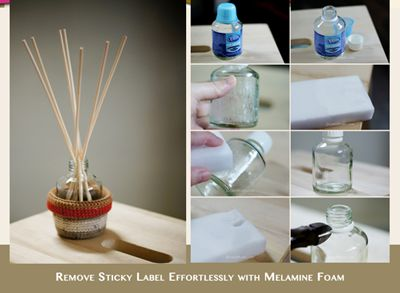 Remove Sticky Label Effortlessly with Melamine Foam aka Magic Eraser