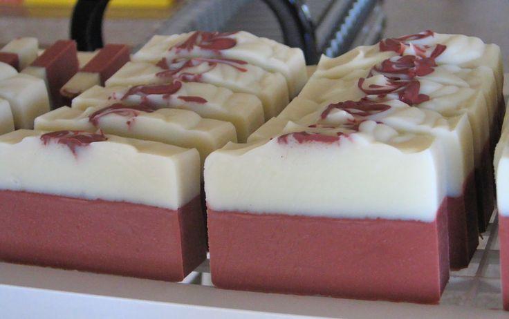 Sapun 2 culori cu argila rosie