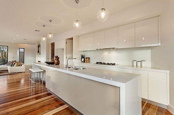 long kitchen island - Google Search