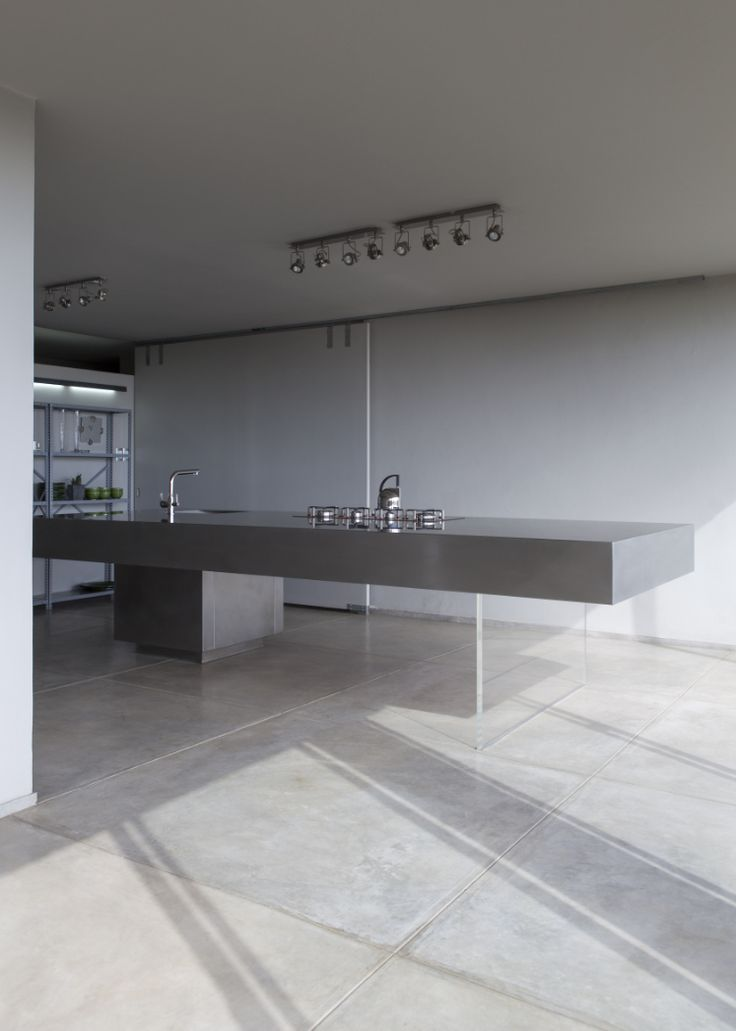 Thomas Gouws Architects - House Potgieter Stainless Steel Kitchen Island