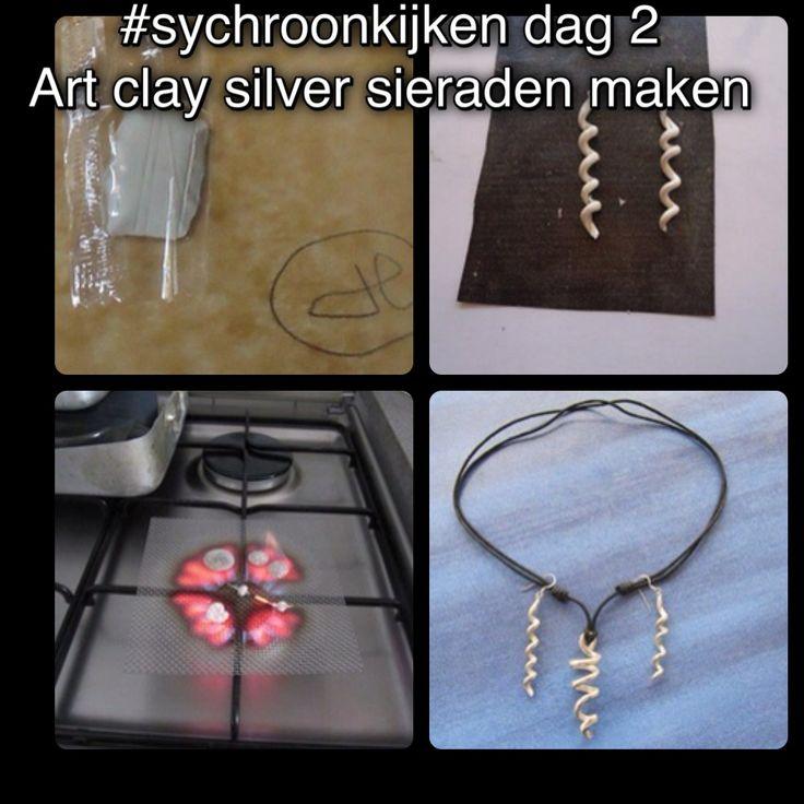 #synchroonkijken zelf zilveren sieraden maken van zilverklei
