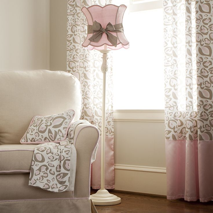 Floor Lamp Ridged Ivory with Shade and Sash #carouseldesigns
