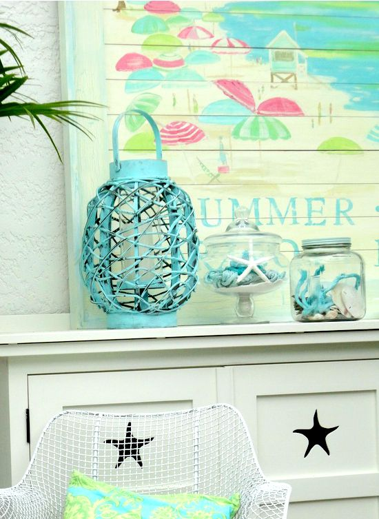 Beach Summer Mantel Love at Beach Bliss Living: http://beachblissliving.com/beach-summer-mantel/ Tracey Rapisardi Design.