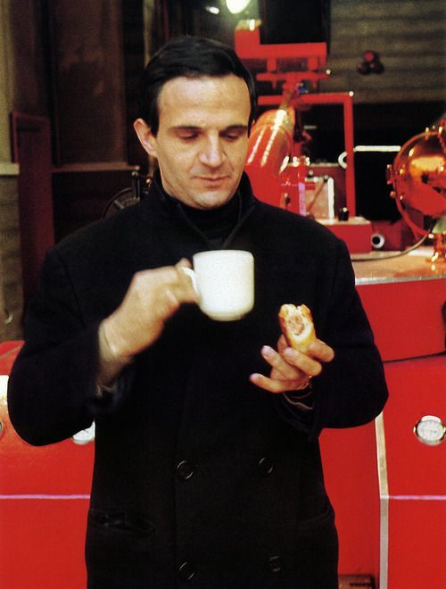 François Truffaut on the set of Fahrenheit 451.