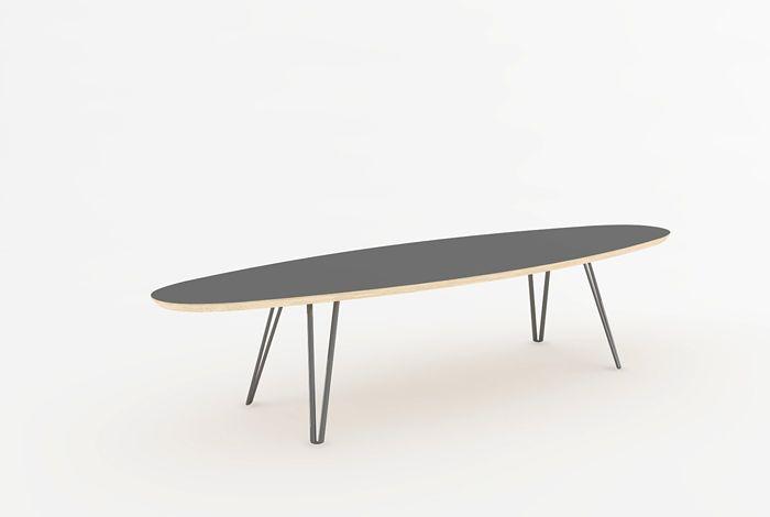 TABLE BASSE OVALE - Meuble style vintage Gentlemen Designers - Le fabricant français de mobilier sur-mesure