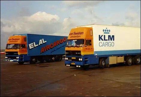 EL AL Air Cargo & KLM Cargo trucks