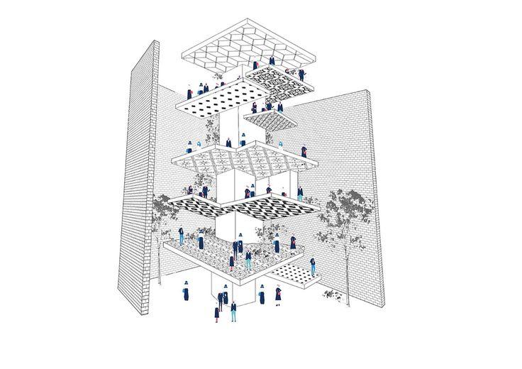 "2nd prize: ""In-Between"" by Onea Ioana, Alexandra Nistor, Raluca Hirleata, Stefania Daniela, Tirca Radu George - Universitatea de Arhitectura si Urbanism Ion Mincu"