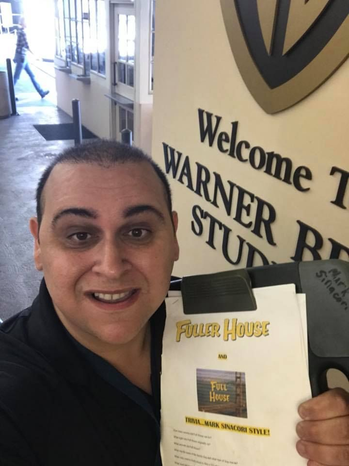 Mark Sinacori at gate 3 at Warner Bros  ready to do trivia with the