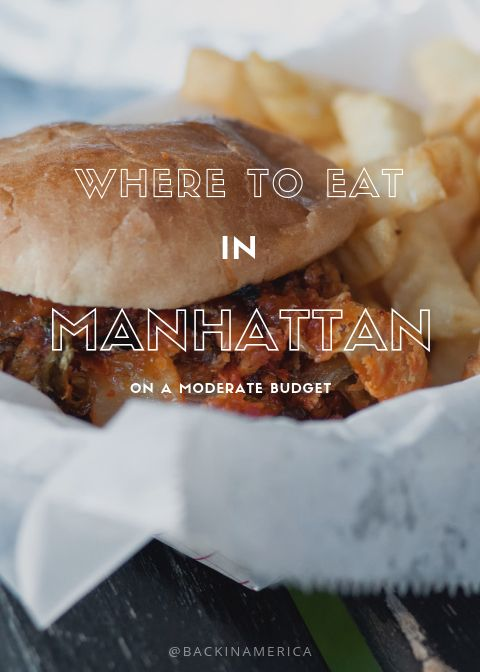 A Pick Of Some Great Moderately Priced Restaurants In Manhattan