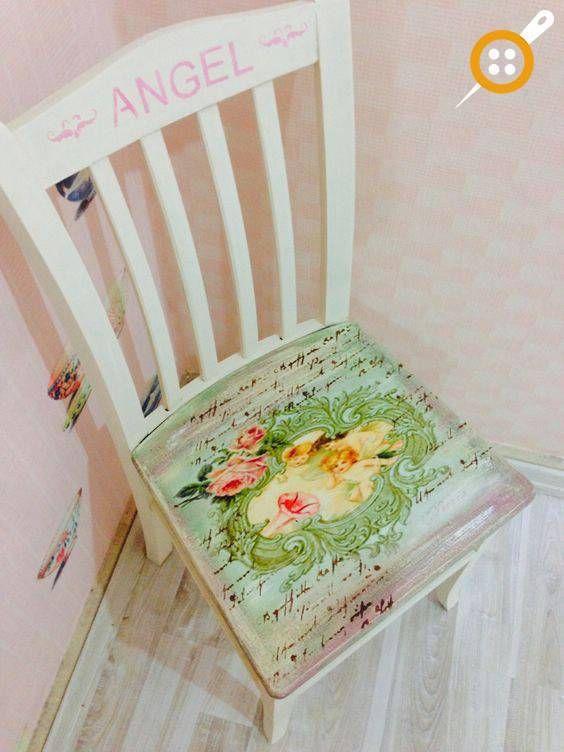 Ahşap Sandalye Boyama örnekleri Boya Pinterest