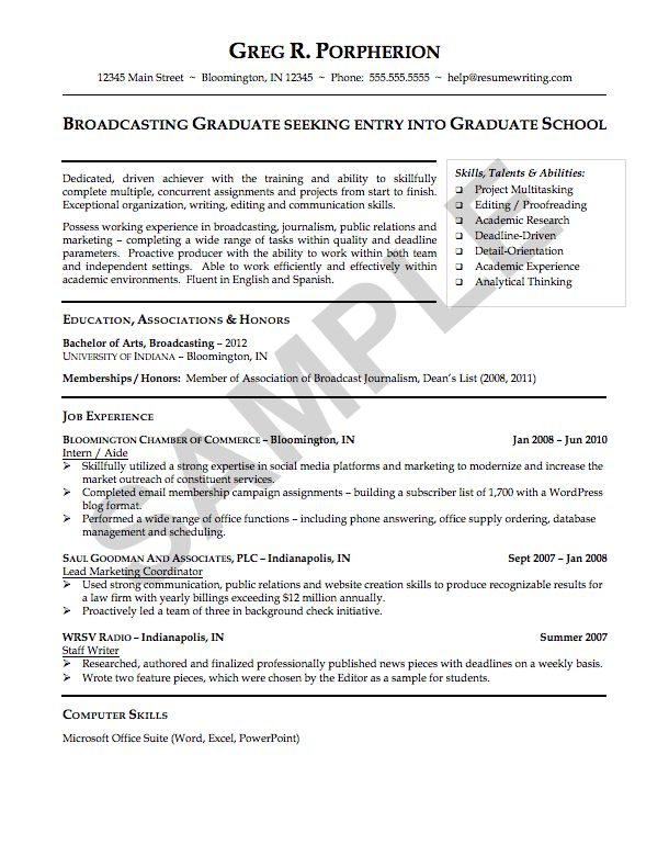 101 best Resume Layout Samples images on Pinterest Resume layout - broadcast journalism resume