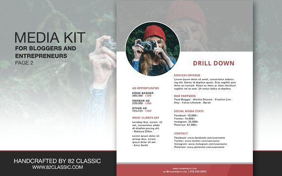 A media kit is a powerful tool that bloggers and entrepreneurs must have if they are trying to grow their brand to the next level. It is a snapshot or preview of your blog/website that you can present to potential sponsors, collaborators, media, clients and more.