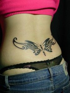 Tatuaje 3D de la mariposa Diseños de tatuajes Espalda baja Negro Butterfly Designs Mostrando Diseño tatuajes