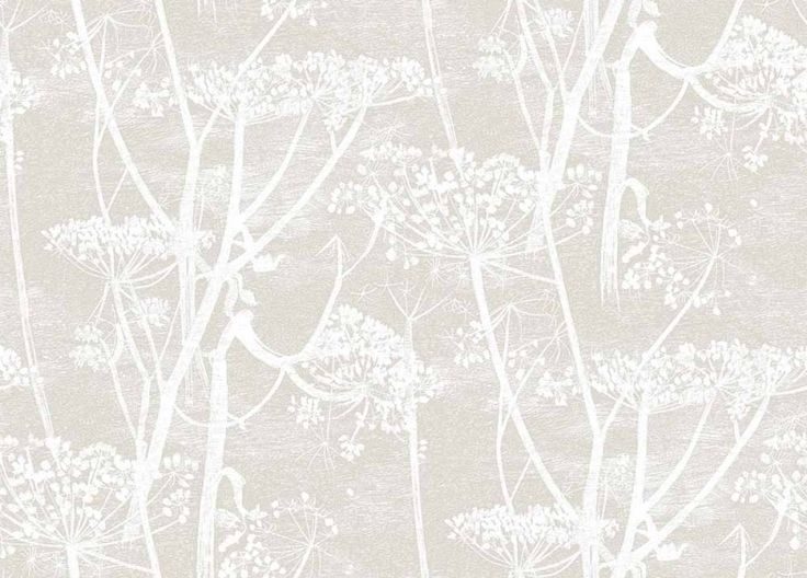 Downstairs loo? Cow Parsley (95/9051) - Cole & Son Wallpapers - A large scale all over design of cow-parsley, in off white on soft pale grey background – giving a magical delicate effect. Available in other colours. Please ask for a sample for a true colour match. Paste-the-wall product.