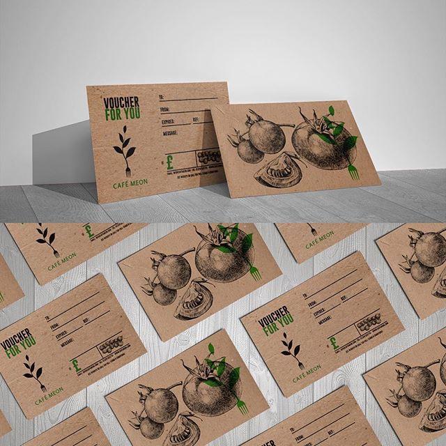 Fun little voucher project for @cafemeon #vegan #cafe #design