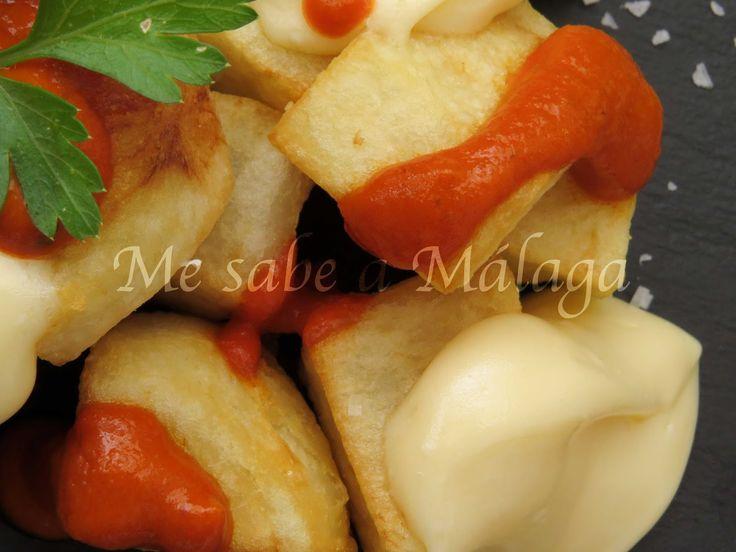 Las patatas bravas no son un plato tradicional malagueño pero sí que es una tapa bastante típica de la gastronomía española.     Rec...