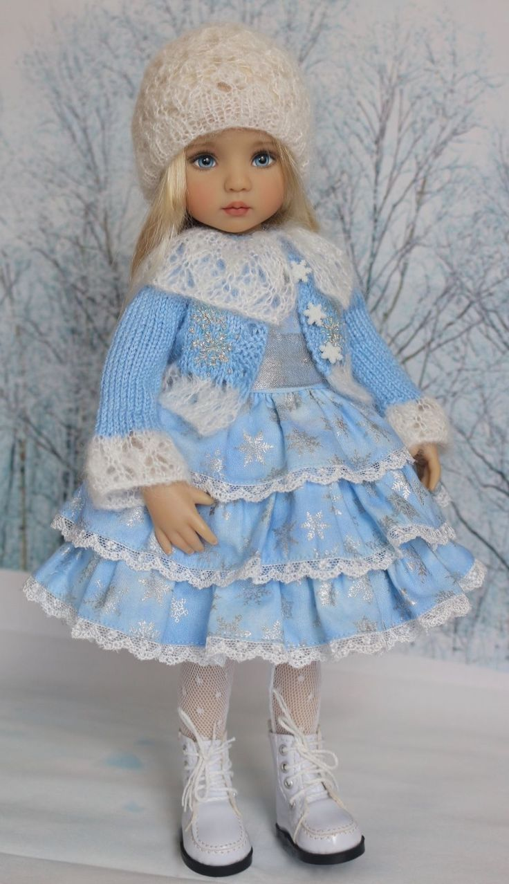 "Embroidered Ensemble for Effner 13"" Little Darling Dolls-Petite Princess Designs"