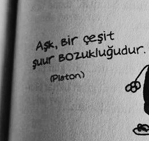 Aşk bir çeşit şuur bozukluğudur. - Platon #Aşk #Sevgi