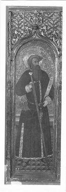 """""""San Pablo"""" fotografía de la tabla de 1460-1470 de Pedro García de Benabarre, Museum of Fine Arts (Budapest, Hungría). Era parte del retablo gótico de la iglesia de Nuestra Señora de Baldós, en Montañana (Huesca),"""