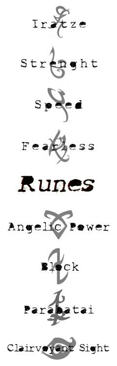 Runes  More at:http://shadowhunters.com/about-shadowhunters/runes/