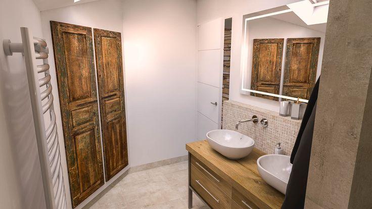 Projet de rénovation du0027une maison à Grignon - salle du0027eau