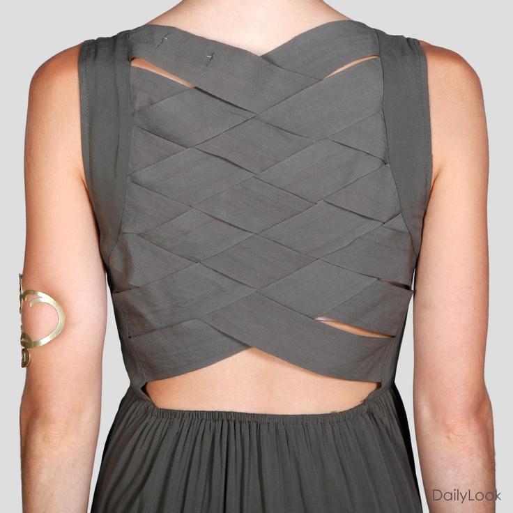 Woven Back Dress