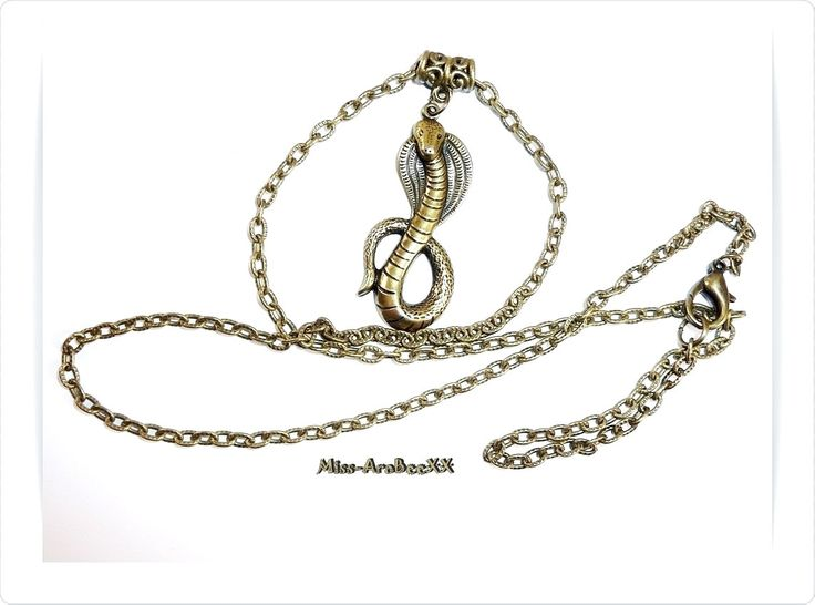 Vintage Kobra Schlangen Halskette in Bronze, Tier Amulett mit Kette im Ethno Style (70er Jahre) Must-Have! Unisex Geschenkidee für Sie & Ihn von MissAraBeeXX auf Etsy