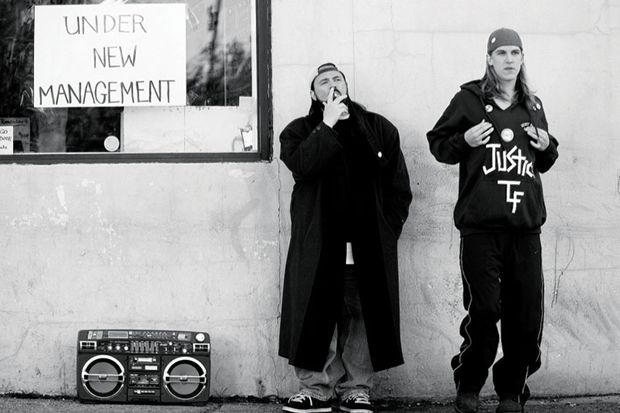 """""""Clerks""""  Kevin Smith y Jason Mewes"""