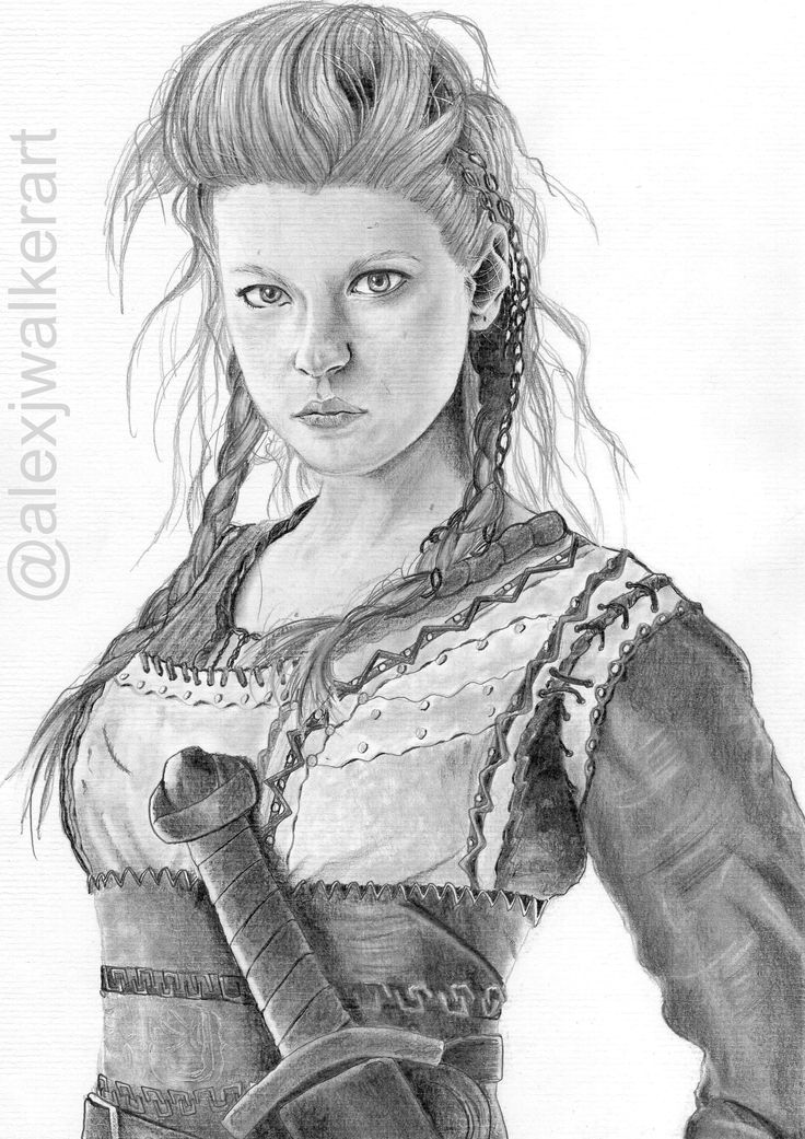Lagertha Shield Maiden  from Vikings  Pencils by: A.J Walker