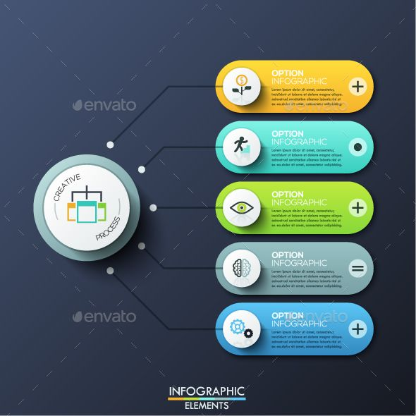 Modern Infographic Options Template PSD, Vector EPS, AI Illustrator