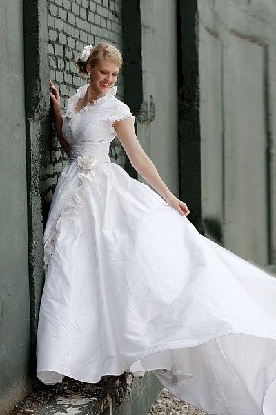 Whimsical Romance - Modest Wedding Gown