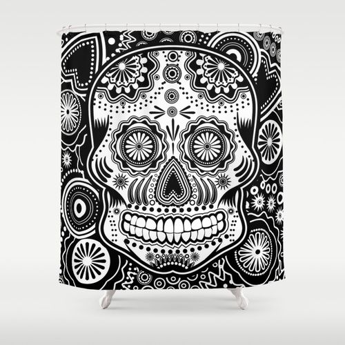 Day Of The Dead Bathroom Set: 20 Best Images About Sugar Skull Shower Curtain On