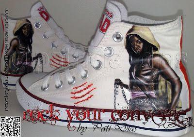 walking dead converse | ... Star Customizado - Rock Your Converse!: Michonne - The Walking Dead