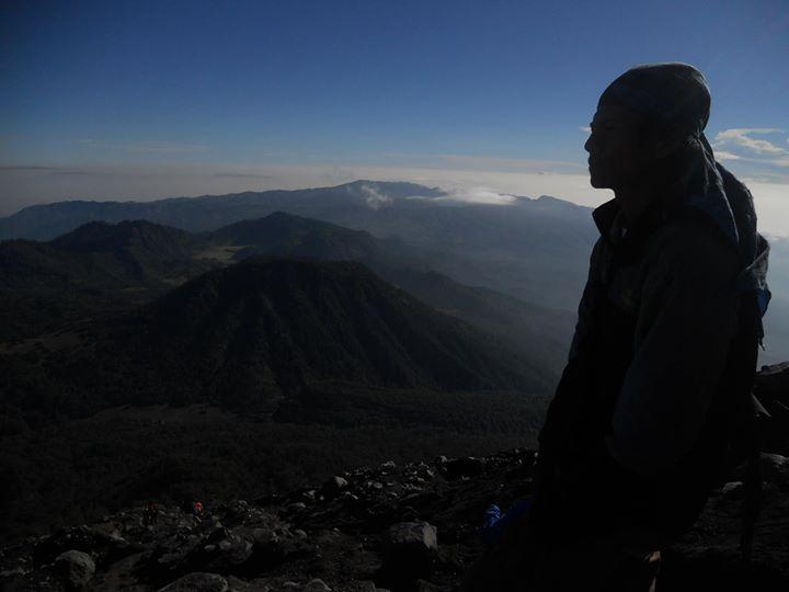 My man at semeru mountain