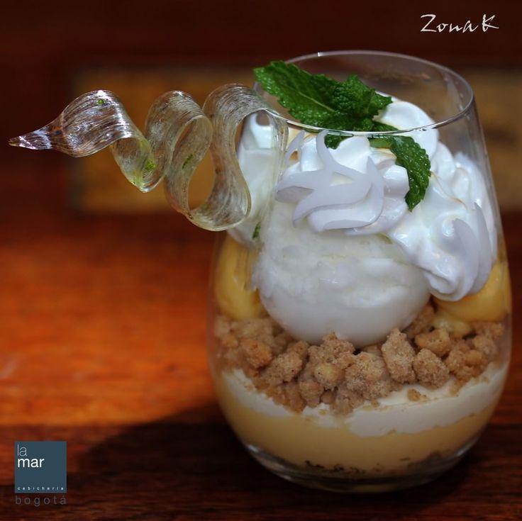 #zonakbogota #zonak #restaurantelamar #cebicherialsmar #lamar #usaquen  www.cebicherialamar.com.co  Disfrute de nuestros postres en La Mar