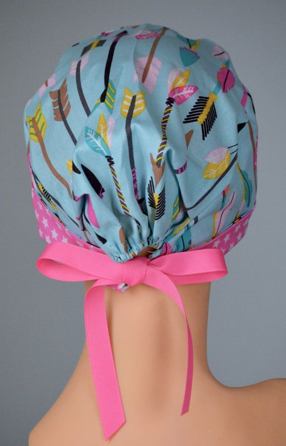Surgical Scrub Hat or Chemo Cap The Mini with by thehatcottage: