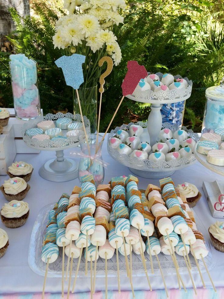 Gender Reveal Babyshower Dessert Table Gender Reveal Party